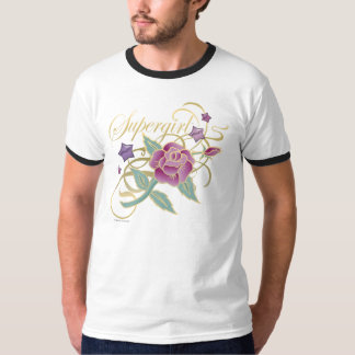 Supergirl Fancy Roses T-Shirt