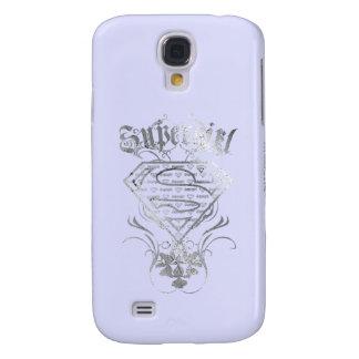 Supergirl Fancy Silver Logo Galaxy S4 Case