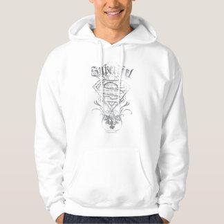 Supergirl Fancy Silver Logo Hoodie