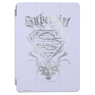 Supergirl Fancy Silver Logo iPad Air Cover