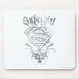 Supergirl Fancy Silver Logo Mouse Mat