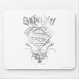 Supergirl Fancy Silver Logo Mouse Mat