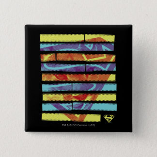 Supergirl Filmstrip 15 Cm Square Badge