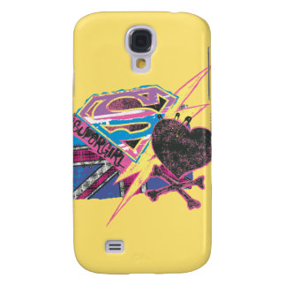 Supergirl Flag and Crossbones Galaxy S4 Case