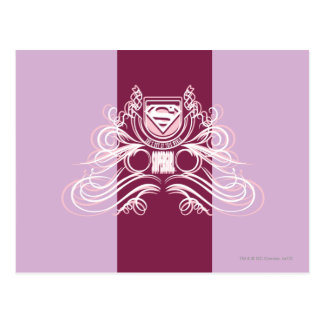 Supergirl Flourish Design Postcard