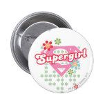 Supergirl Flower Madness 6 Cm Round Badge
