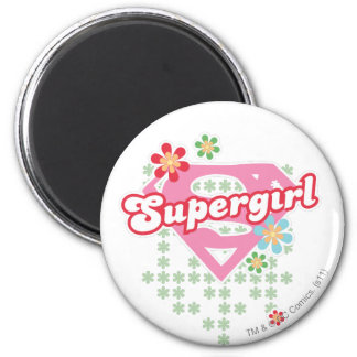 Supergirl Flower Madness Magnet