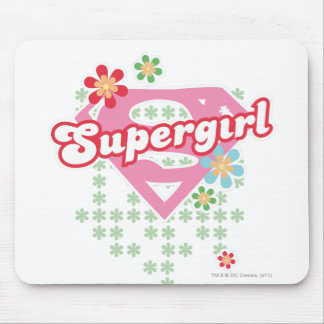 Supergirl Flower Madness Mouse Pad