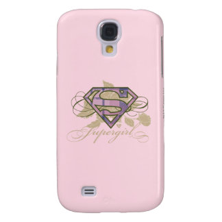 Supergirl Flowers Galaxy S4 Case
