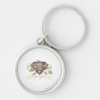 Supergirl Flowers Key Ring