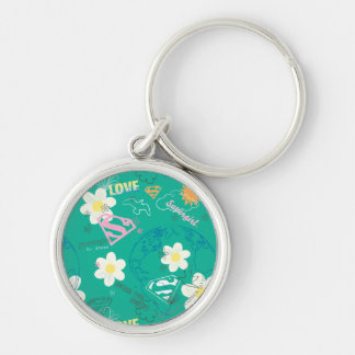 Supergirl for Peace Pattern Key Ring