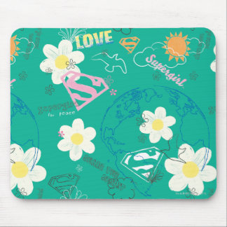 Supergirl for Peace Pattern Mouse Mat