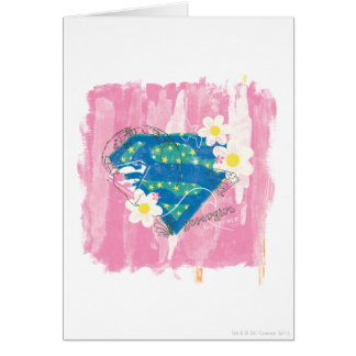 Supergirl for Peace Pink Card