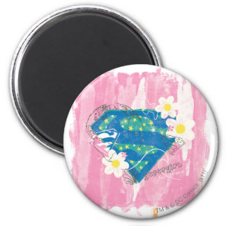 Supergirl for Peace Pink Magnet