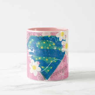 Supergirl for Peace Pink Two-Tone Coffee Mug