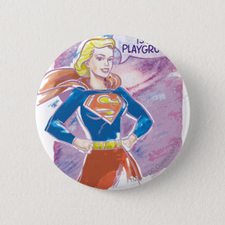 Supergirl Galaxy 6 Cm Round Badge