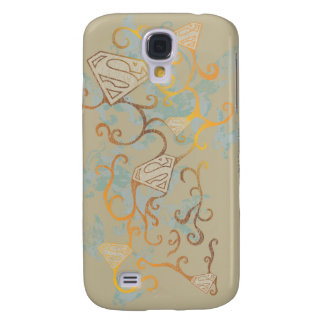 Supergirl Gold and Brown Galaxy S4 Case