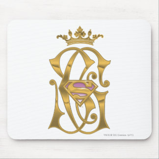 Supergirl Gold Crown Mouse Mat