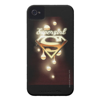 Supergirl Gold Drips iPhone 4 Case