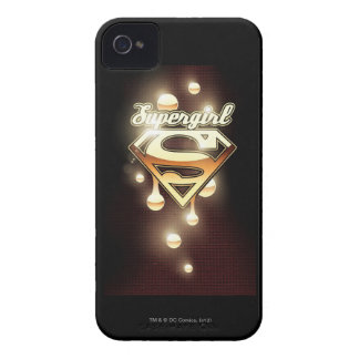Supergirl Gold Drips iPhone 4 Case-Mate Cases