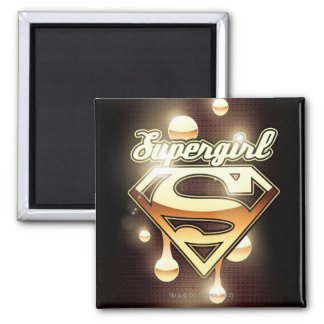 Supergirl Gold Drips Magnet