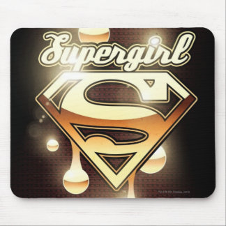Supergirl Gold Drips Mouse Mat
