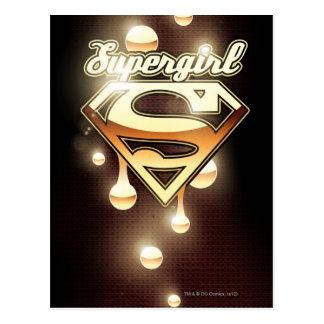 Supergirl Gold Drips Postcard