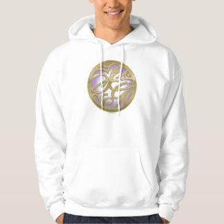 Supergirl Gold & Purple Circle Logo Hoodie