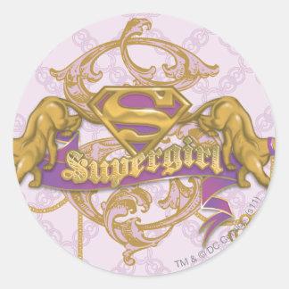 Supergirl Golden Cat 3 Classic Round Sticker