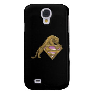Supergirl Golden Cat Galaxy S4 Case