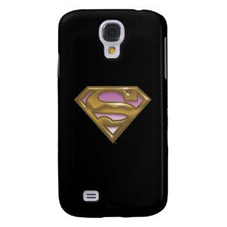 Supergirl Golden Logo Galaxy S4 Case