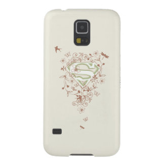 Supergirl Green Floral Logo Case For Galaxy S5