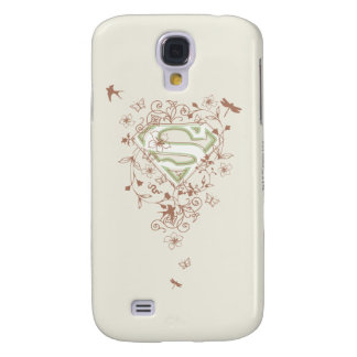 Supergirl Green Floral Logo Galaxy S4 Case