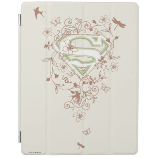 Supergirl Green Floral Logo iPad Cover