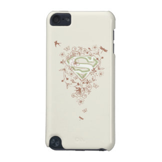Supergirl Green Floral Logo iPod Touch (5th Generation) Cover