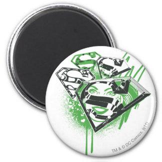 Supergirl Green Spills 6 Cm Round Magnet