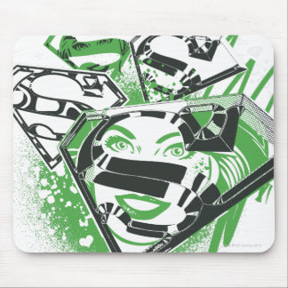 Supergirl Green Spills Mouse Mat