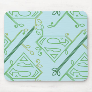 Supergirl Green Vine Logo Pattern Mouse Pad