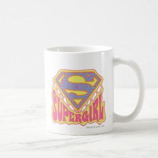 Supergirl Groovy Logo Basic White Mug