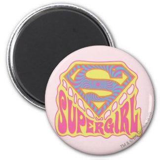 Supergirl Groovy Logo Magnet