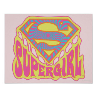 Supergirl Groovy Logo Poster