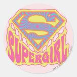 Supergirl Groovy Logo Stickers