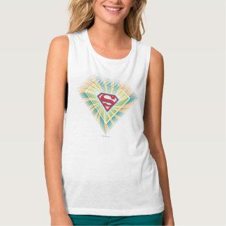 Supergirl Groovy Logo Tank Top