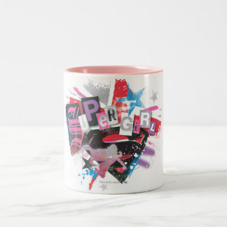 Supergirl Grunge Design Two-Tone Coffee Mug