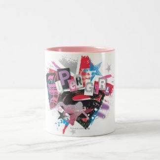 Supergirl Grunge Design Two-Tone Coffee Mug