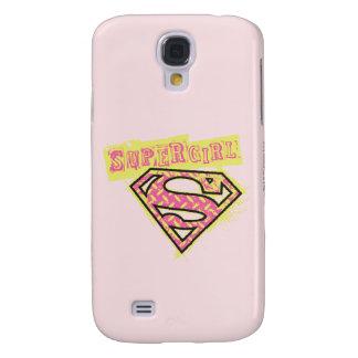 Supergirl Grunge Logo Pink Galaxy S4 Case