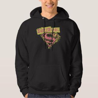 Supergirl Grunge Logo Pink Hoodie