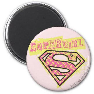 Supergirl Grunge Logo Pink Magnet