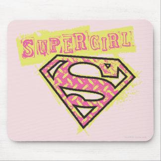 Supergirl Grunge Logo Pink Mouse Mat