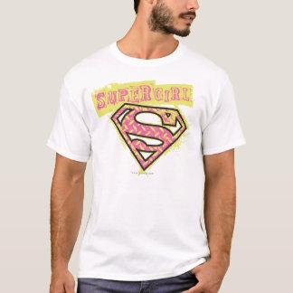 Supergirl Grunge Logo Pink T-Shirt